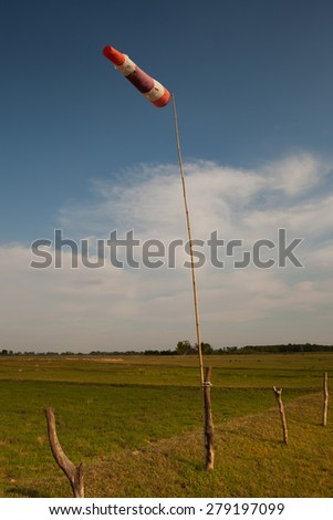 Flag on Green Grass - stock photo