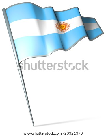 Flag pin - Argentina - stock photo