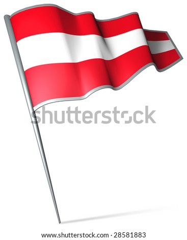 Flag pin - Austria - stock photo