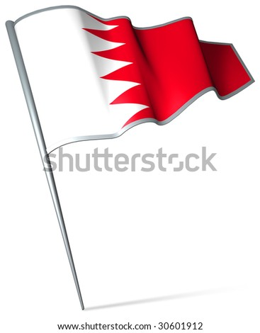 Flag pin - Bahrain - stock photo