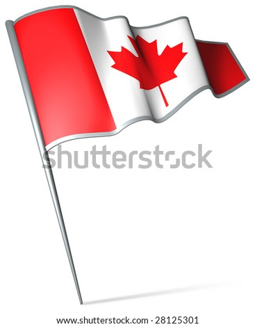 Flag pin - Canada - stock photo