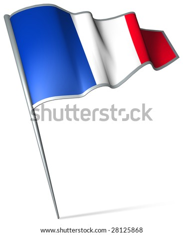 Flag pin - France - stock photo