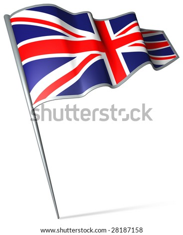 Flag pin - Great Britain - stock photo