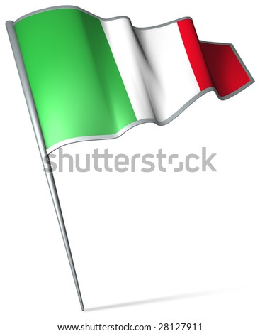 Flag pin - Italy - stock photo