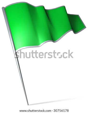 Flag pin - Libya - stock photo