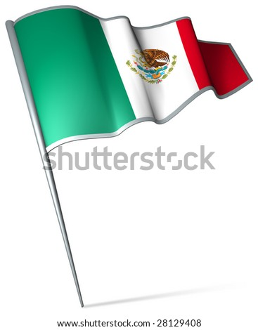 Flag pin - Mexico - stock photo