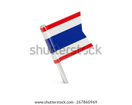 Flag pin of thailand isolated on white
