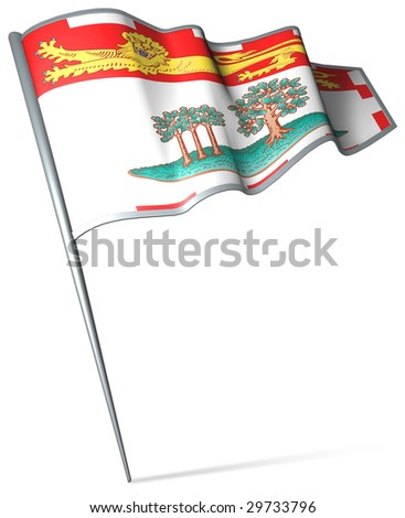 Flag pin - Prince Edward Island (Canada) - stock photo