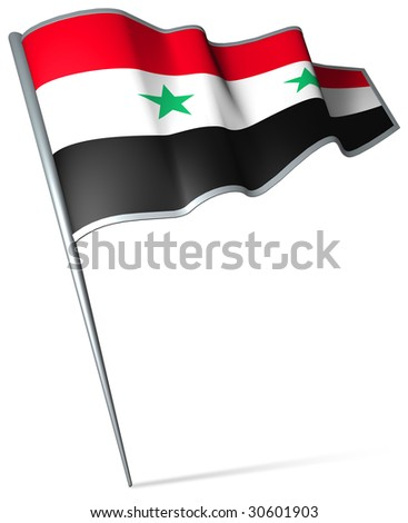 Flag pin - Syria - stock photo