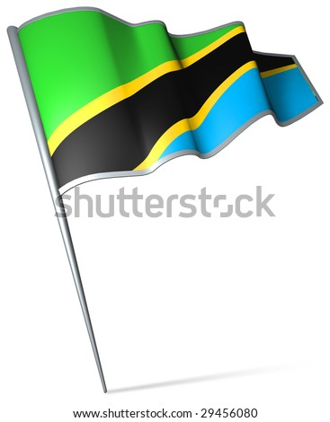 Flag pin - Tanzania - stock photo