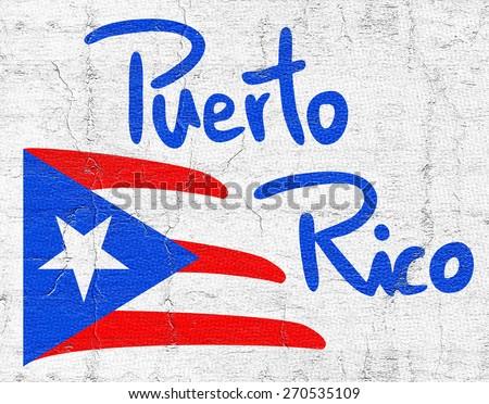 Flag Puerto Rico - stock photo
