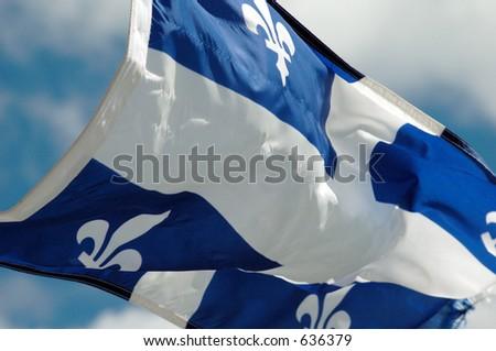 FLAG QUEBEC - stock photo
