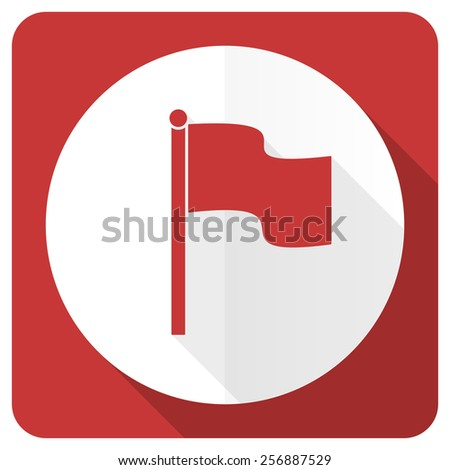 flag red flat icon   - stock photo