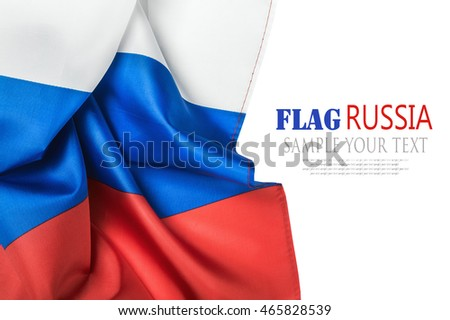 flag Russia isolated on white background. text deleted