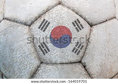 flag South Korea soccer - stock photo