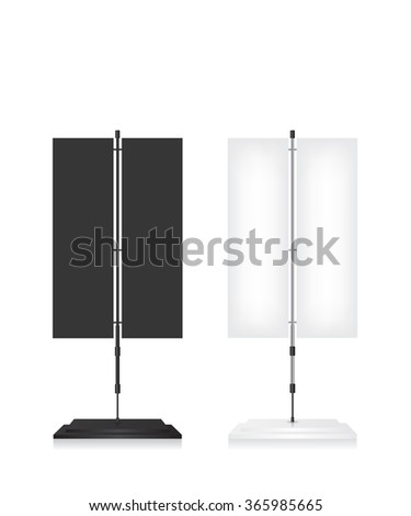 Flag stand banner on white background