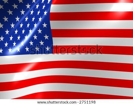Flag the USA - stock photo