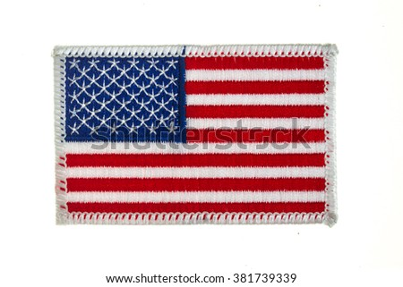 flag, white, red, blue,military, stripe, white, background, isolated, on white,