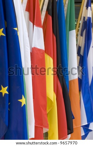 flags background - stock photo