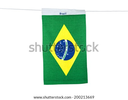Flags for soccer championship 2014 - stock photo