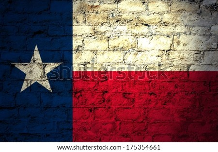 Flags from the states of the  USA ; the flag of Texas - stock photo