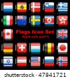 Flags icon set - stock photo