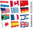 Flags isolated - stock photo