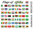 Flags of Africa - stock photo