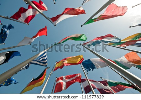 Flags of European States - stock photo