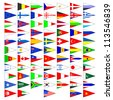Flags of the countries of the world. A set of the isolated icons on a white background. EPS version is available as ID 103545002. - stock photo