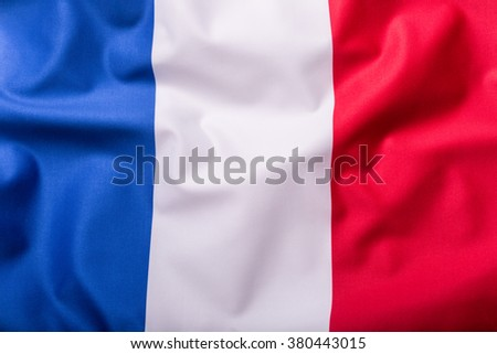 Flags of the France and the European Union. France Flag and EU Flag. World flag money concept. - stock photo