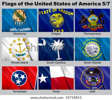 Flags of the USA with clipping path 5/7