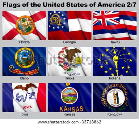 Flags of the USA with clipping path 2/7