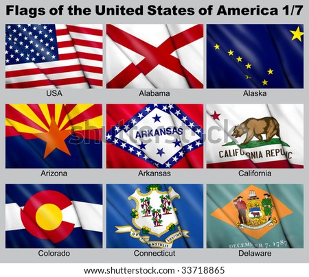 Flags of the USA with clipping path 1/7