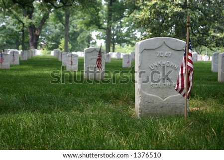 Flags on Display at Arlington for Memorial Day