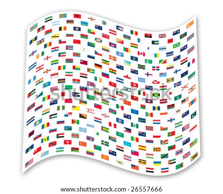 Flags on flag - stock photo