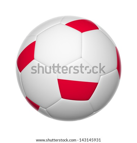 Flags on soccer ball of Poland Macedonia - stock photo