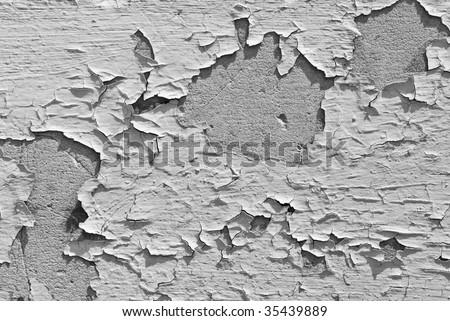 flakey paint - stock photo
