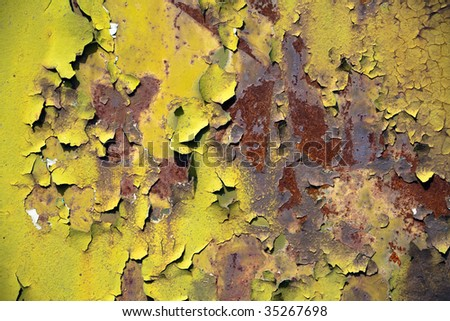 Flaking paint on an old truck - stock photo