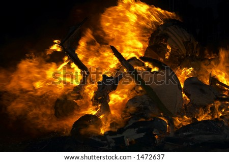 flame background, fallas Valencia - stock photo