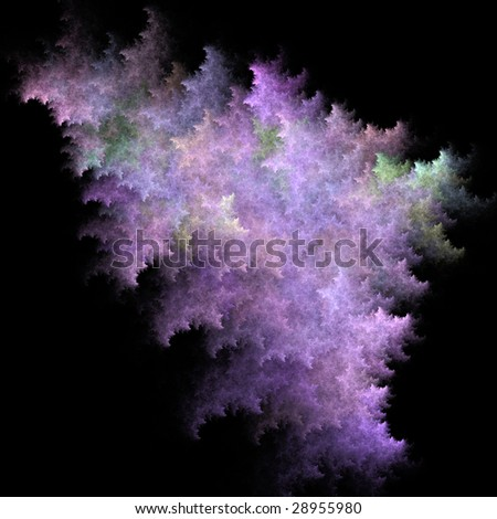 Flame based fractal for use as a creative design element. - stock photo