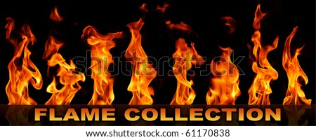 Flame collection - stock photo