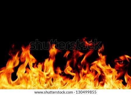 flame frame - stock photo