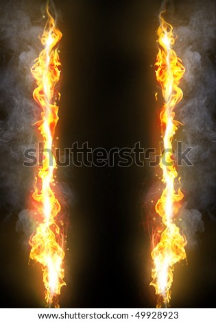 Flame frame - stock photo