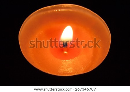 Flame from  the candle - stock photo