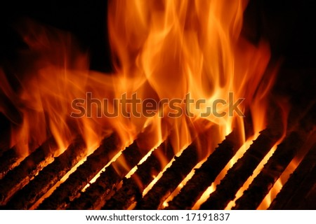 Flame Grill - stock photo