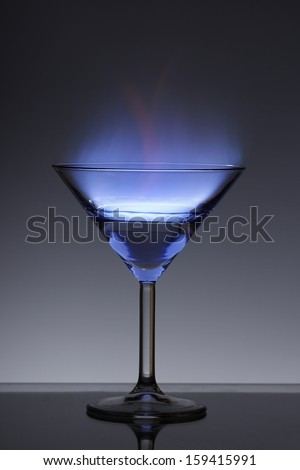 flame in a glass