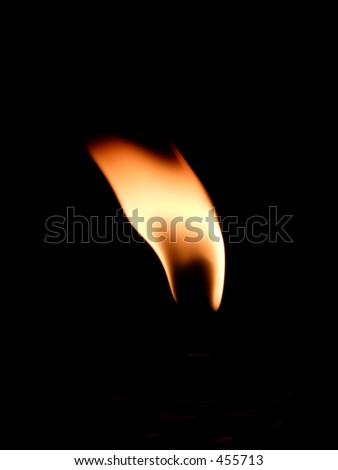 Flame in the wind - stock photo