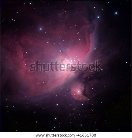 Flame Nebula, near Orion - stock photo