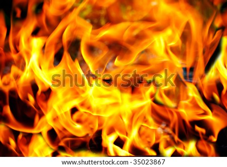 Flame of fire. Background